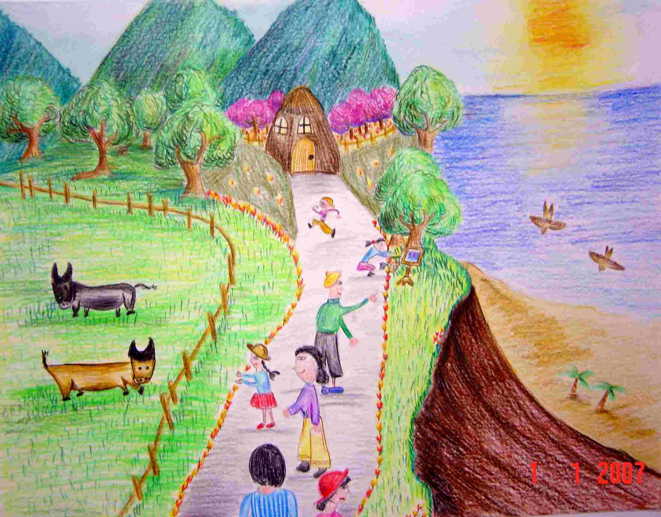 一等奖:胡俊恩 二等奖:林正辉 第11届全国中小学生绘画比赛 第11届图片